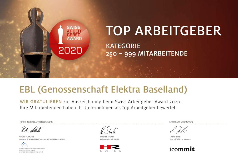 Swiss Arbeitgeber Award 2020